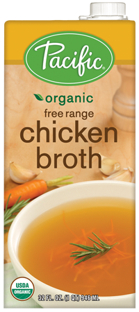 Organic chicken broth or homemade bone broth