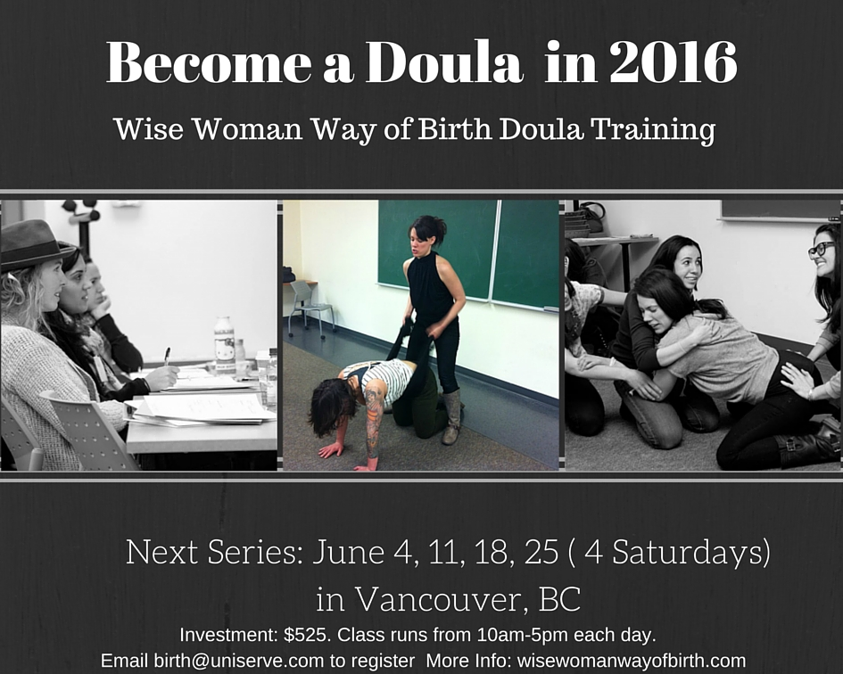 June 2016 vancouver doula training